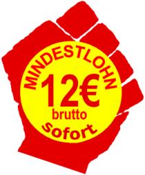 12 Euro Mindestlohn sofort!